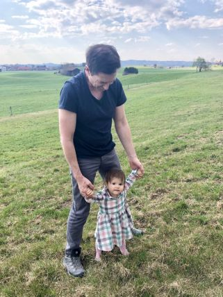 Walking exercise with dad