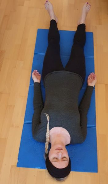 Deep relaxation in Shavasana