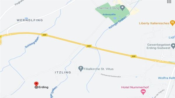 Picnic site in Itzling near Erding