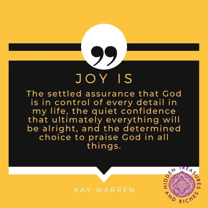 #1 secret to overflowing in joy