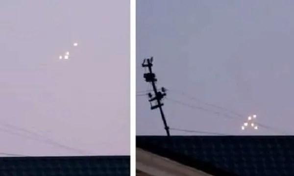 В Крим е заснето необичайно струпване на светещи НЛО (видео)