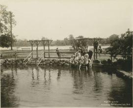 The swimming pool near Kissena Lake