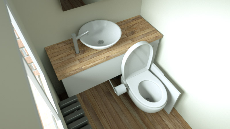 hidealoo standalone forward facing fully open and extended toilet