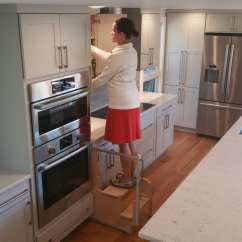 Kitchen Solutions Aid 5 Speed Blender Step 180 Integrated Cabinet Stools Hideaway Stool