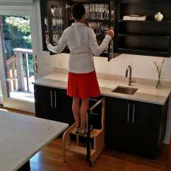 Folding Kitchen Step Stool Used Commercial Equipment Chicago Pull-out Vs Pull-down Cabinet - Hideaway Solutions