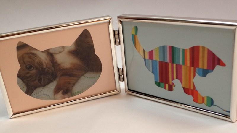 愛猫家向け猫型作品付きフォトフレーム 10000円  Hidemi Shimura