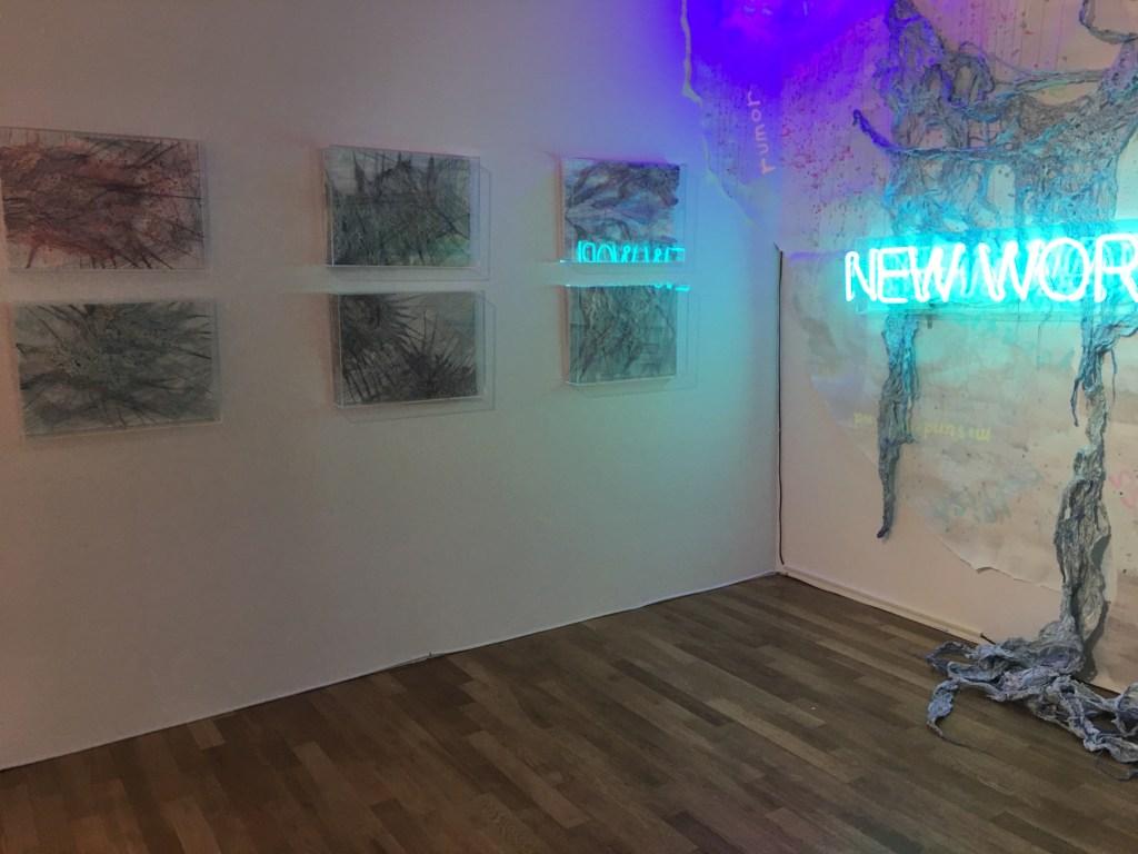 Tagboat Art Fair 展示の様子 tagboatartfair, tagboat, mixedmedia, installation, hidemishimura, fiberart, contemporaryart Hidemi Shimura