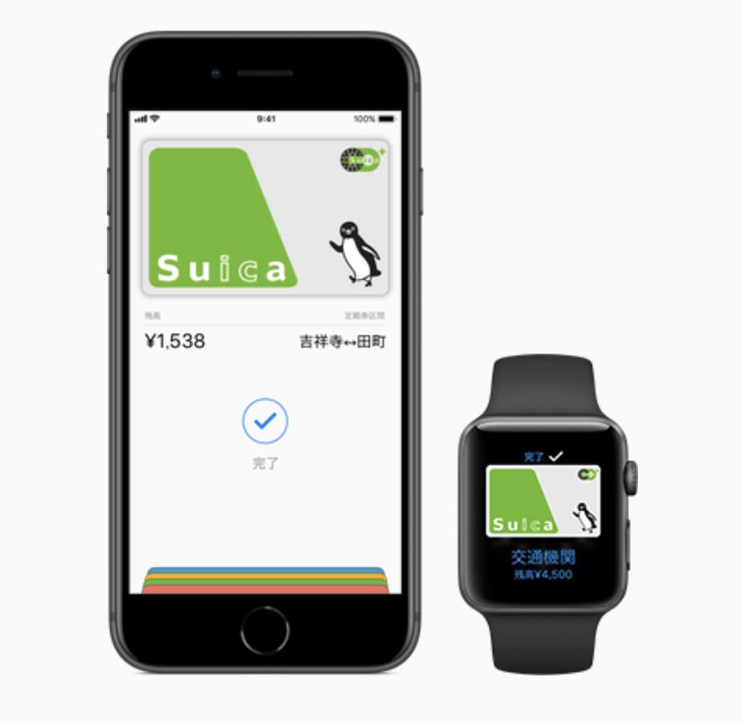 Apple Payで利用するSuica