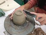陶芸実習、高台削り