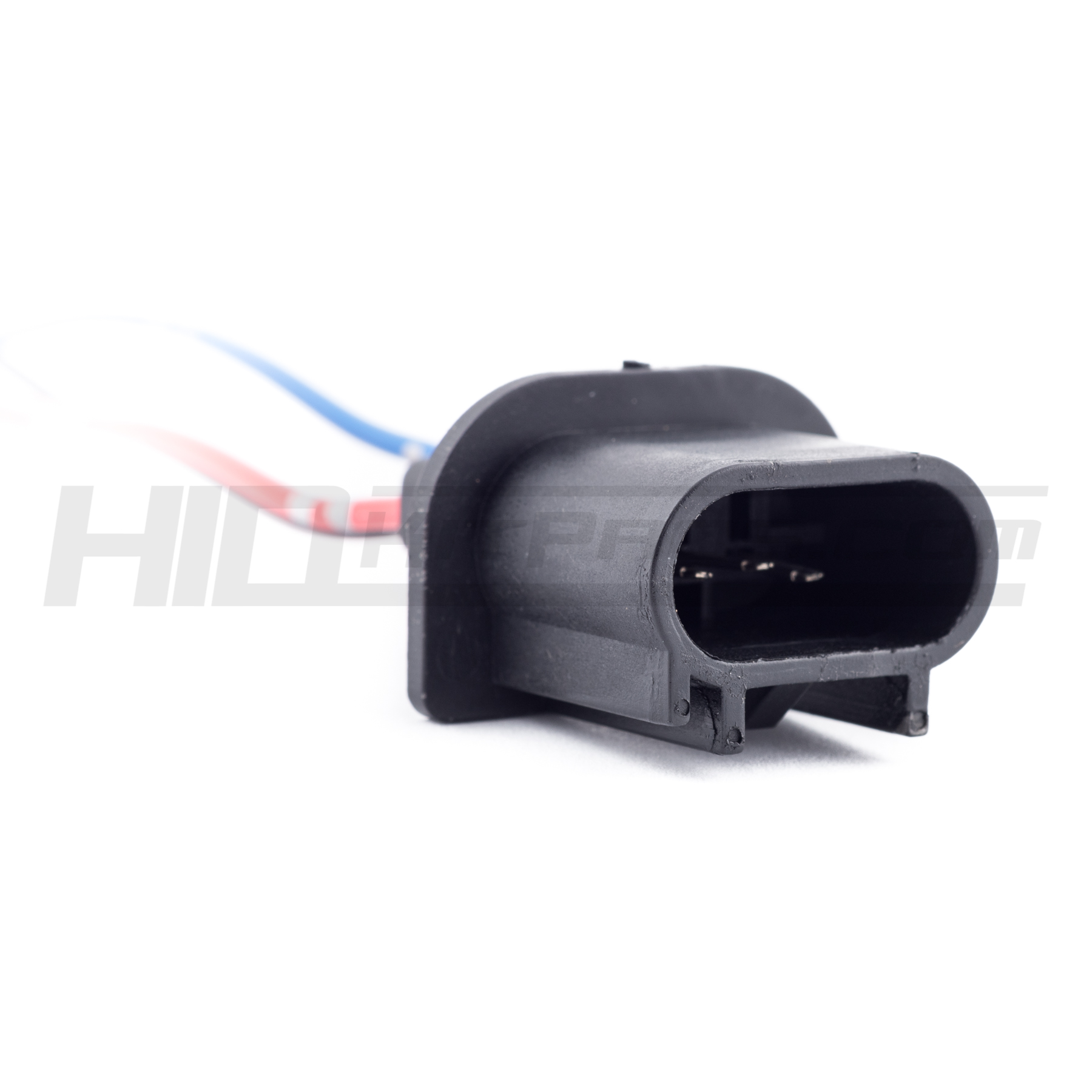 2* H13 9008 HID LED bulb male socket relay base outlet replace plug connector
