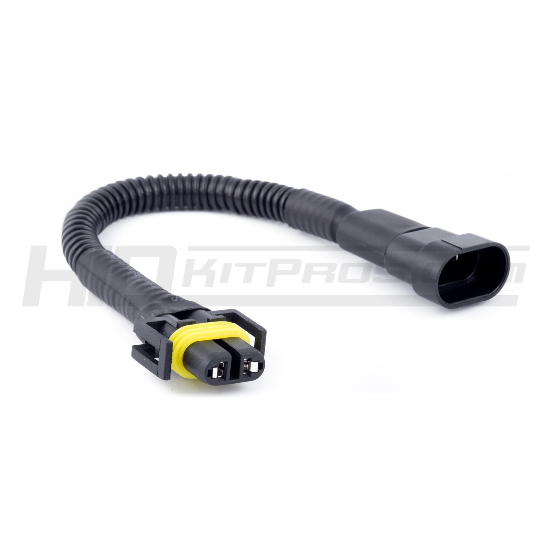 H11 Female To 9005 9006 H10 Male Converter Socket