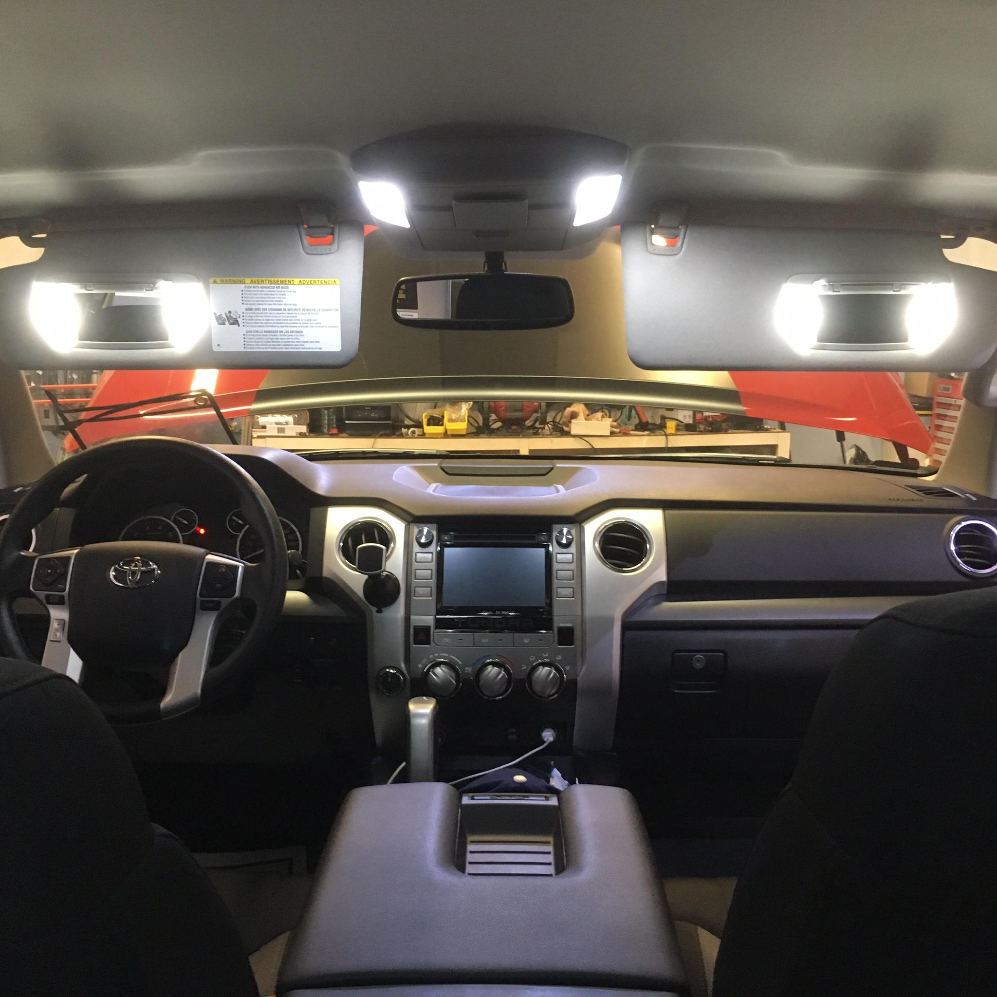 LED Interior Lighting Set blue red white pink green Lights All Audi SMD