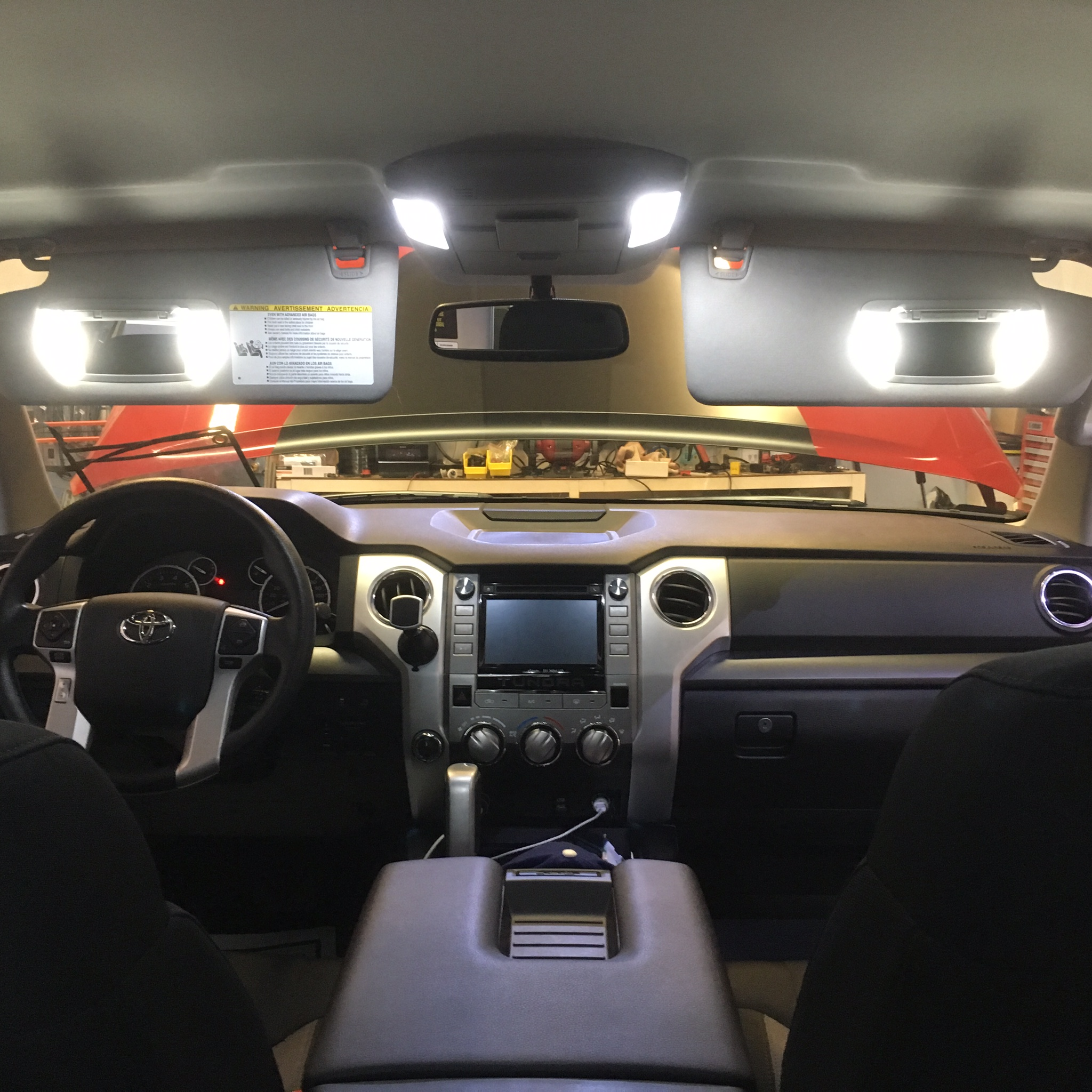 VLEDS Blue Front and Rear Interior Footwell Lighting Kit for Toyota Tundra