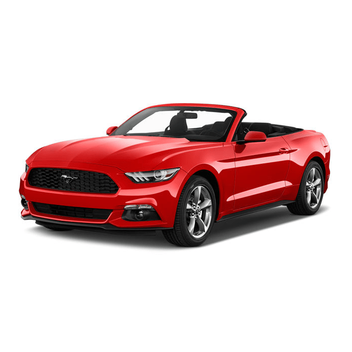 Ford Mustang laser Cut Acrylic Mirror License plate 3D Look