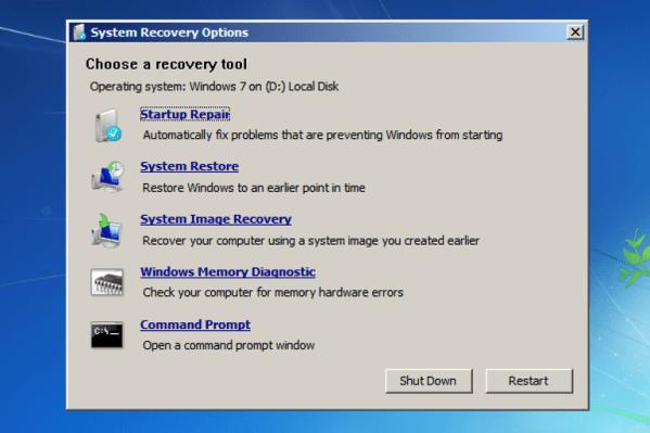windows failed to start 5