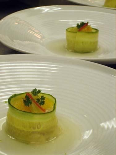 Scallop-and-lychee ceviche.