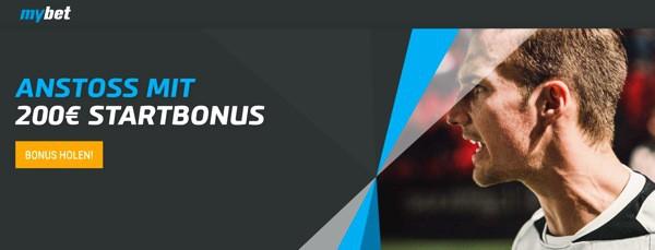 mybet.de 200 Euro Wettbonus Sport