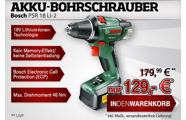 Akku-Schrauber-Bosch-PSR-18-LI-2-guenstiger