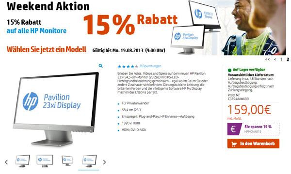 HP-Gutschein-Rabatt-Monitor
