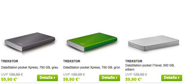 TREKSTOR Festplatte eRaeder günstiger