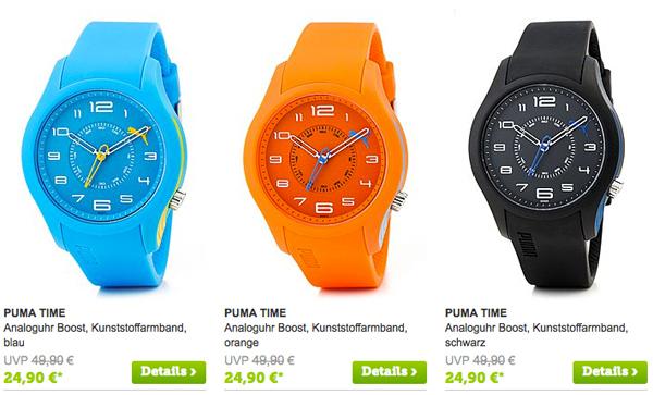 PUMA sportlich bunte Uhr günstiger kaufen