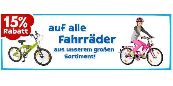 ToysRUs Rabatt auf Fahrräder Kinderfahrrad BMX Citybike