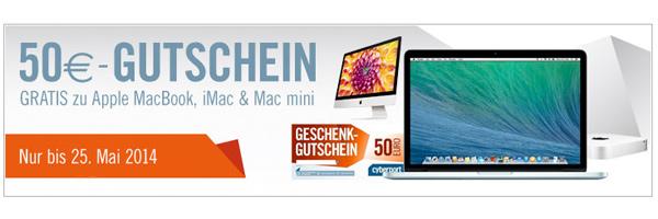 Cyberport Gutschein für MacBook iMac Mac mini