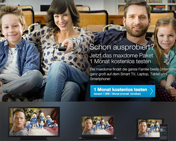maxdome Online-Videothek kostenlos testen