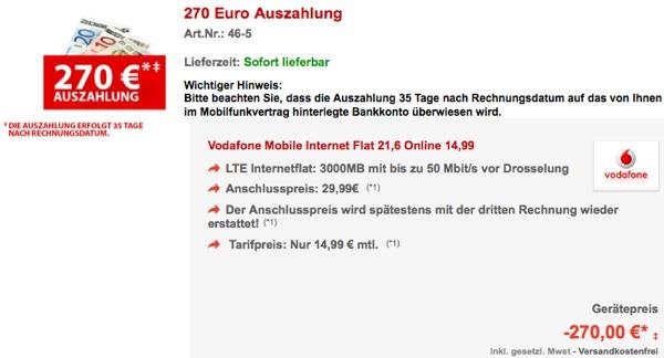 günstige Datenflat von Vodafone