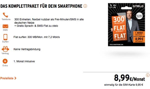 günstiger Smartphonetarif im Vodafone Netz otelo