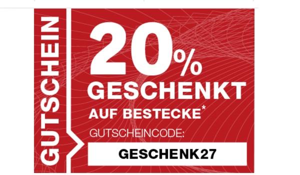 XXXL Möbelhäuser Gutschein Besteck günstiger