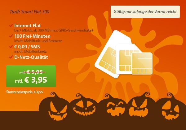 sparhandy.de günstiger Smartphone Tarif für Anfänger unter 4 Euro pro Monat