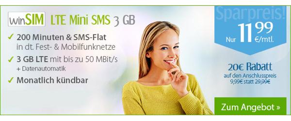 günstiger Smartphone Tarif mit viel Datenvolumen und Freiminuten und SMS -Flat