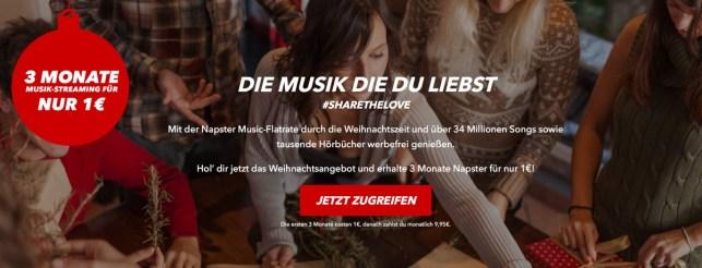 Napster Musik Flat 3 Monate fast kostenlos testen