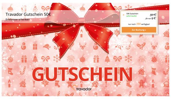 Travador.de 50 Euro Gutschein