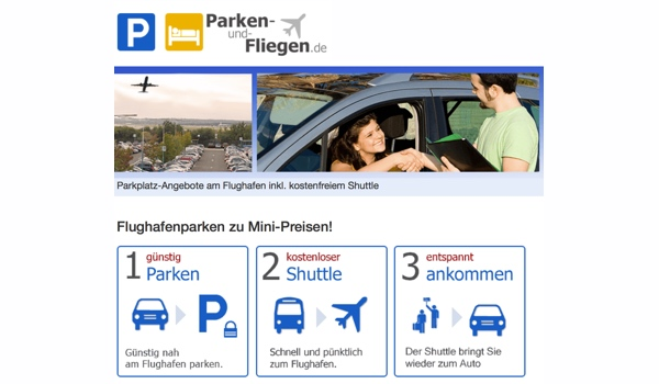 günstiger am Flughafen parken - Parkgebühren sparen im Parkhaus am Flughafen