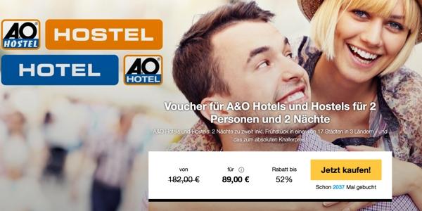 A&O Hotel und Hostels Gutschein
