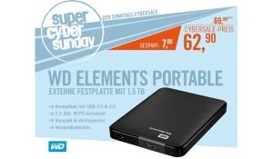 WD Elements Portable USB 3.0 1,5 TB 2.5 zoll