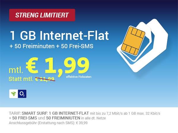 günstiger Handytarif unter 2 Euro im Monat
