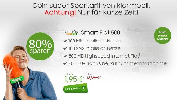 günstiger Handytarif unter 2 Euro Vodafone