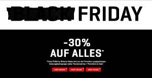 PUMA Black Friday Sale Rabatt 30%