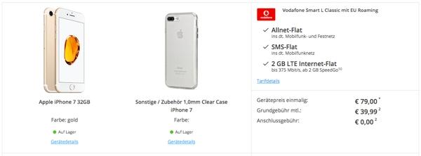 iPhone 7 32 GB mit Vodafone Vertrag EU Flat