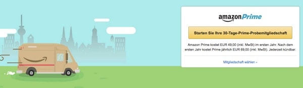 Amazon Prime kostenlos testen und günstiger abonieren
