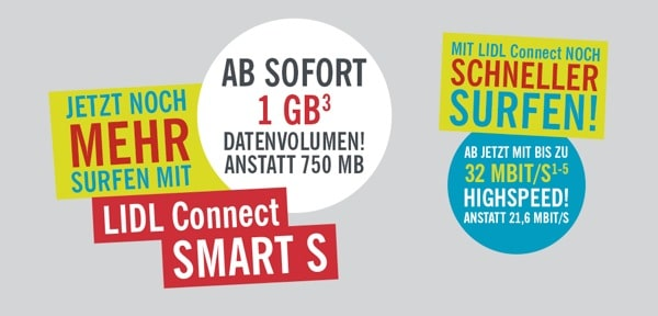 LIDL Connect Smart S mehr Datenvolumen