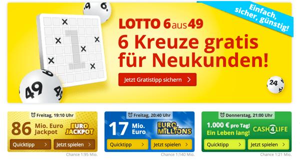 EuroJackpot und Lotto kostenlos spielen