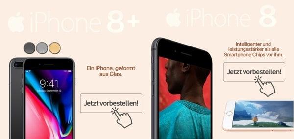 iPhone 8 iPhone X mit Vertrag