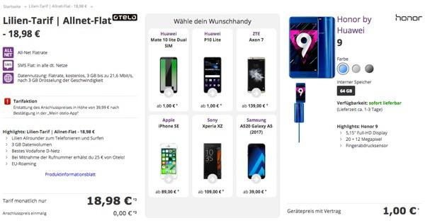 otelo Tarif unter 20 Euro mit Smartphone