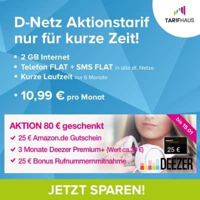 günstige Allnet-Flat Vodafone 2GB