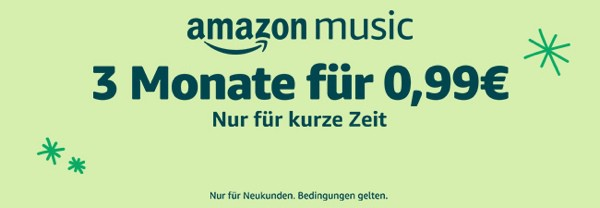 amazon unlimited music unter 1 Euro
