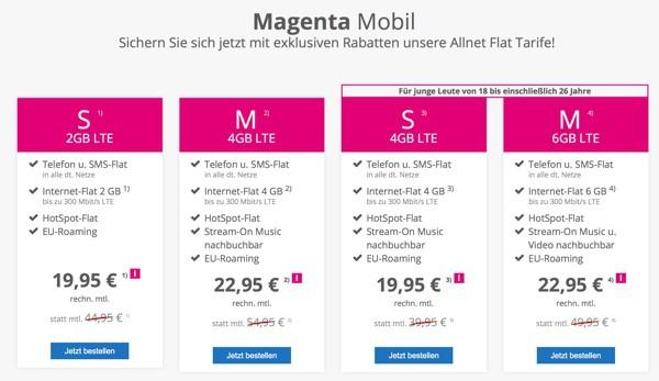 Telekom Allnet Flat Magenta günstiger